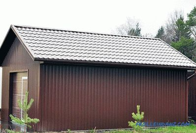 Wooden garage do it yourself - how to make + schemes, photo
