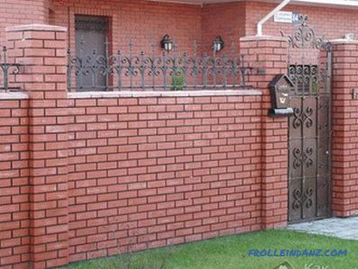 Do-it-yourself brick fence - building a brick fence (+ photos)