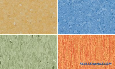 Commercial linoleum technical characteristics of heterogeneous and homogeneous type
