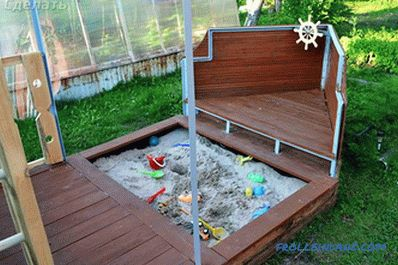 How to make a children's sandbox with their own hands: photos, diagrams, drawings
