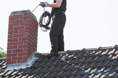 How to clean the chimney pipe with your own hands