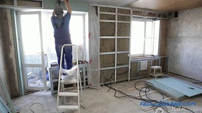 False wall of plasterboard - the construction of the plasterboard wall
