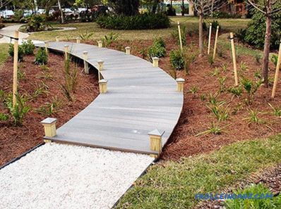 Garden paths made of wood with their own hands