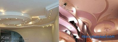 The ceiling of plasterboard do it yourself + photo
