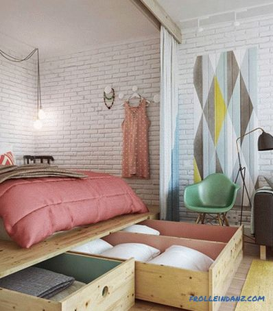 How to zone a room into a bedroom and living room