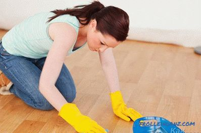 Caring for laminate in the apartment