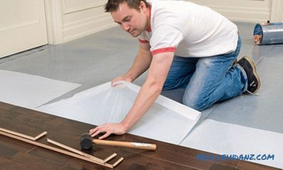 Which substrate to choose under the laminate or floorboard