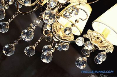 How to wash the crystal chandelier without removing