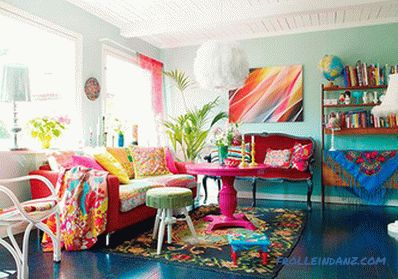 Boho style in the interior - the rules of creation and 45 photos of the ideas of the embodiment