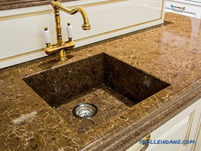 Stone sink for the kitchen - the pros and cons of various types