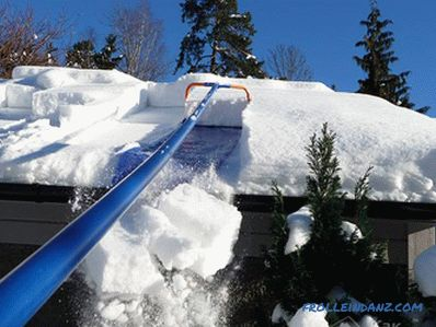 How to remove the snow from the roof with their own hands