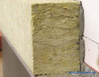 Warming house mineral wool with their own hands