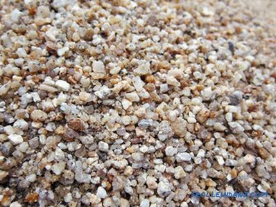 What sand is needed for the foundation