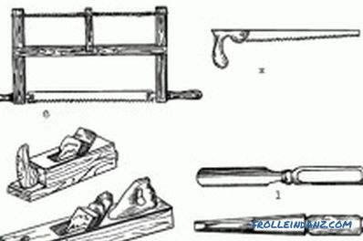 selection of materials and tools, assembly