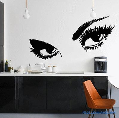 How beautiful to decorate the kitchen - do-it-yourself kitchen design + photo