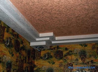 Ceiling decoration with decorative plaster - how to apply decorative plaster