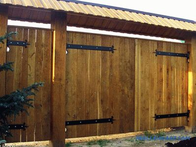 How to make a wooden gate - a gate made of wood (+ photos, diagrams)