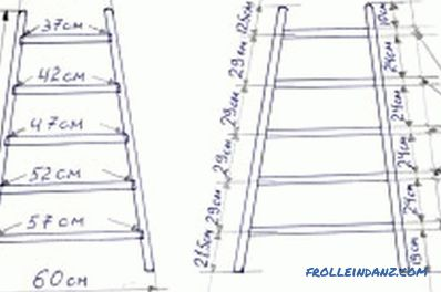 Wooden stepladder with his own hands: features of work