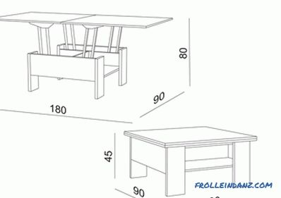 Table transformer do it yourself - preparatory work, drawings (video)