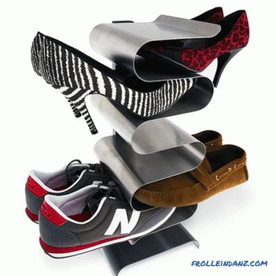 How to make a shelf for shoes with their own hands