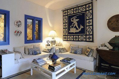 Greek style in the interior - the secrets of creation and photo design ideas