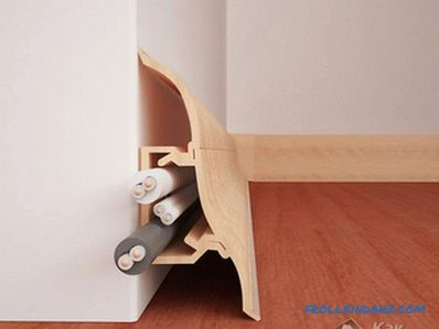 How to install plastic skirting on the floor
